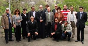 With Archbishop Pargev Martirosyan in Shushi