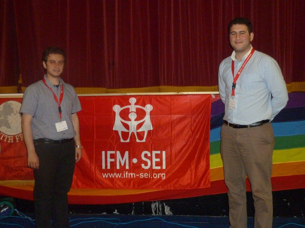 AYF delegates Kevork Hagopjian and Hagop Krikorian