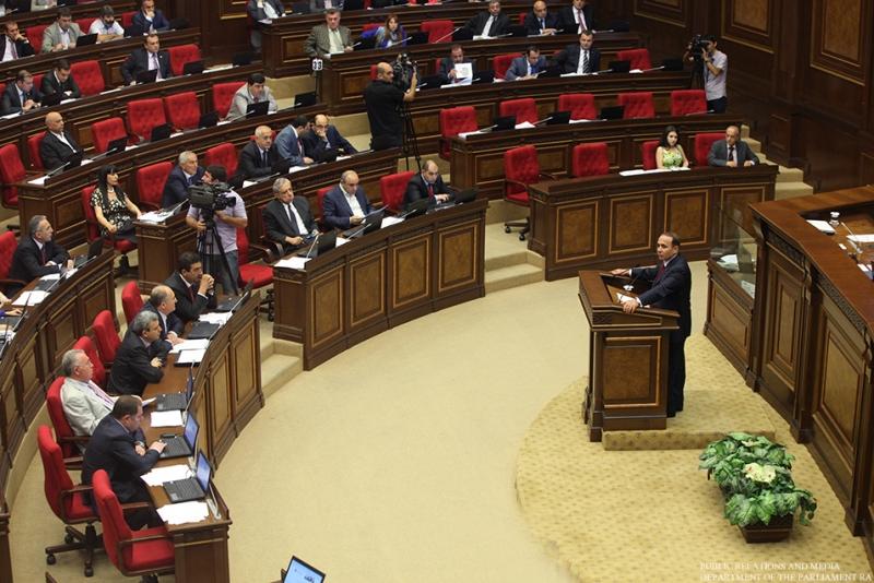 Parliament Speaker Hovik Abrahamyan