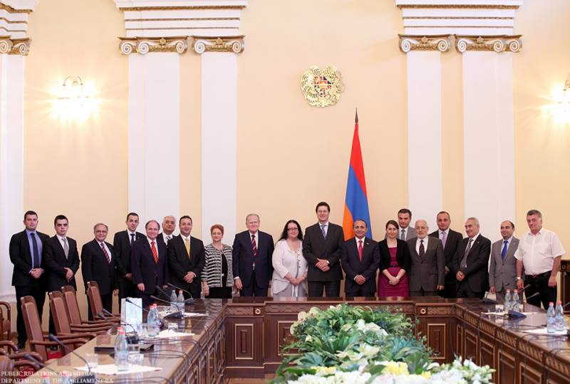 The delegation from the New South Wales accompanied by ANC Australia in the Parliament of Armenia.