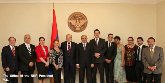 The Australian delegation with the Mountainous Karabakh President, Pako Sahakyan.