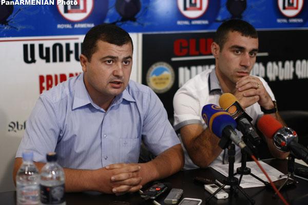 """ARF-D """"Nigol Aghbalyan"""" Student Association members, Mher Ghazaryan and Gerasim Vardanyan."""