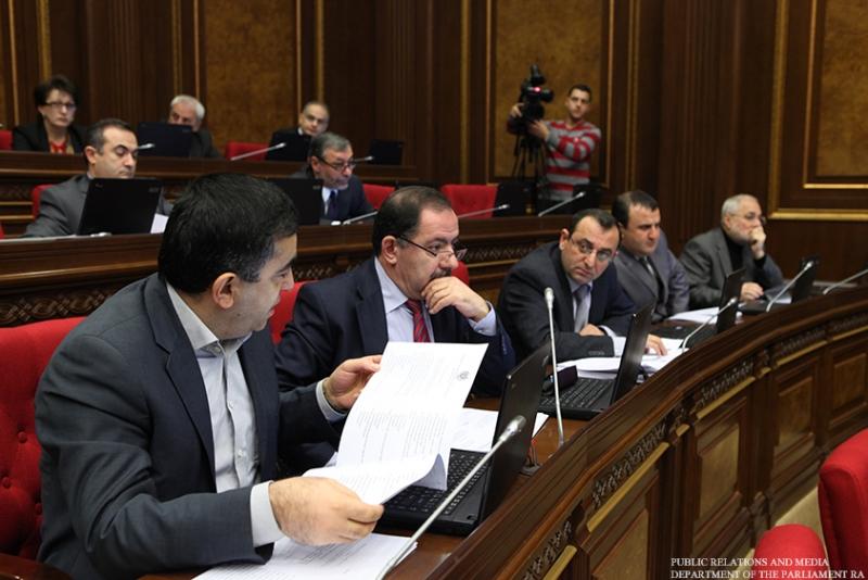 The ARF-D Parliamentary Faction (L-R): Armen Rustamyan, Aghvan Vardanyan, Artsvik Minasyan, Armen Babayan, Vahan Hovhannesyan.