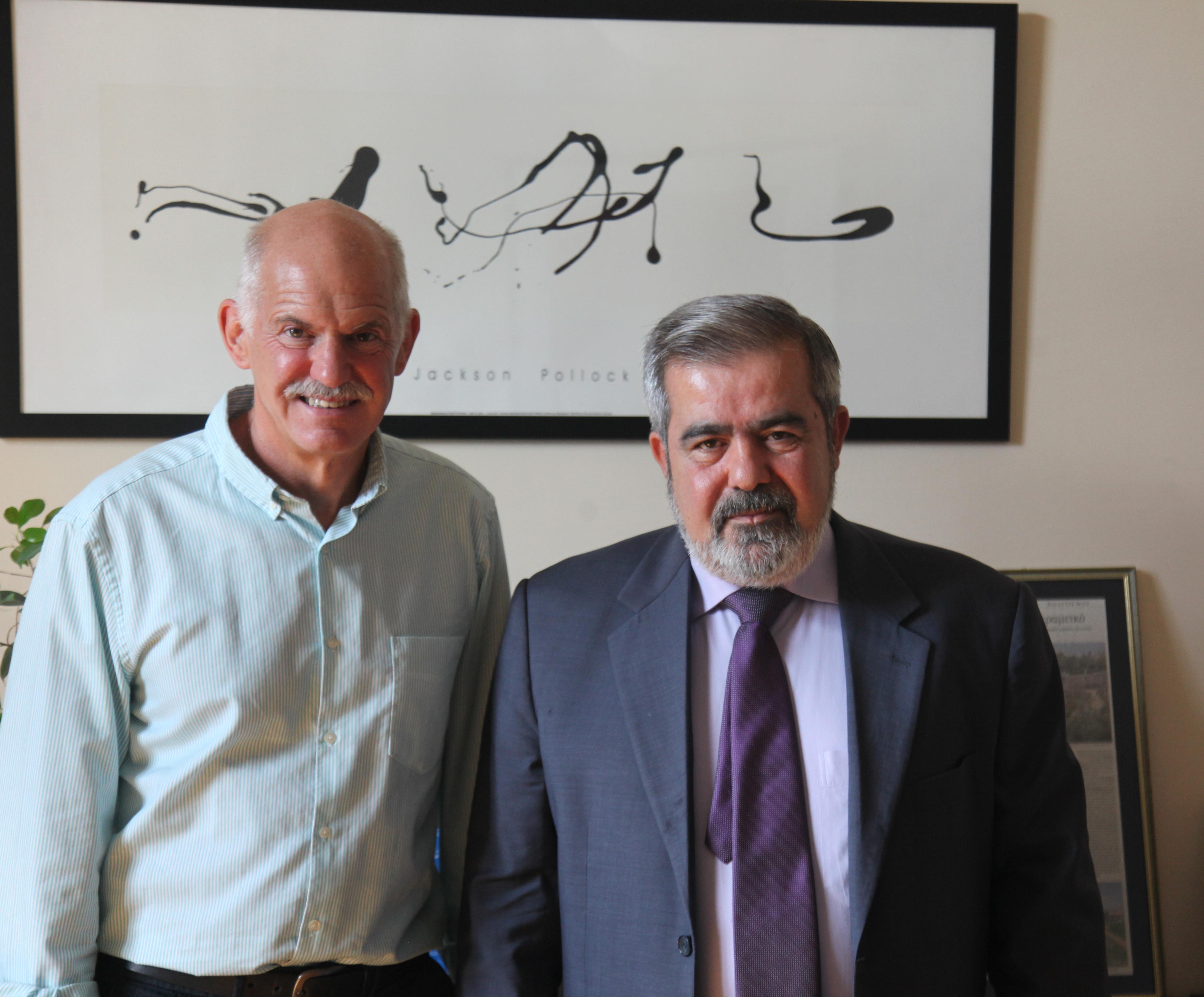 SI President, George Papandreou and ARF-D Bureau Chairman, Hrant Margaryan