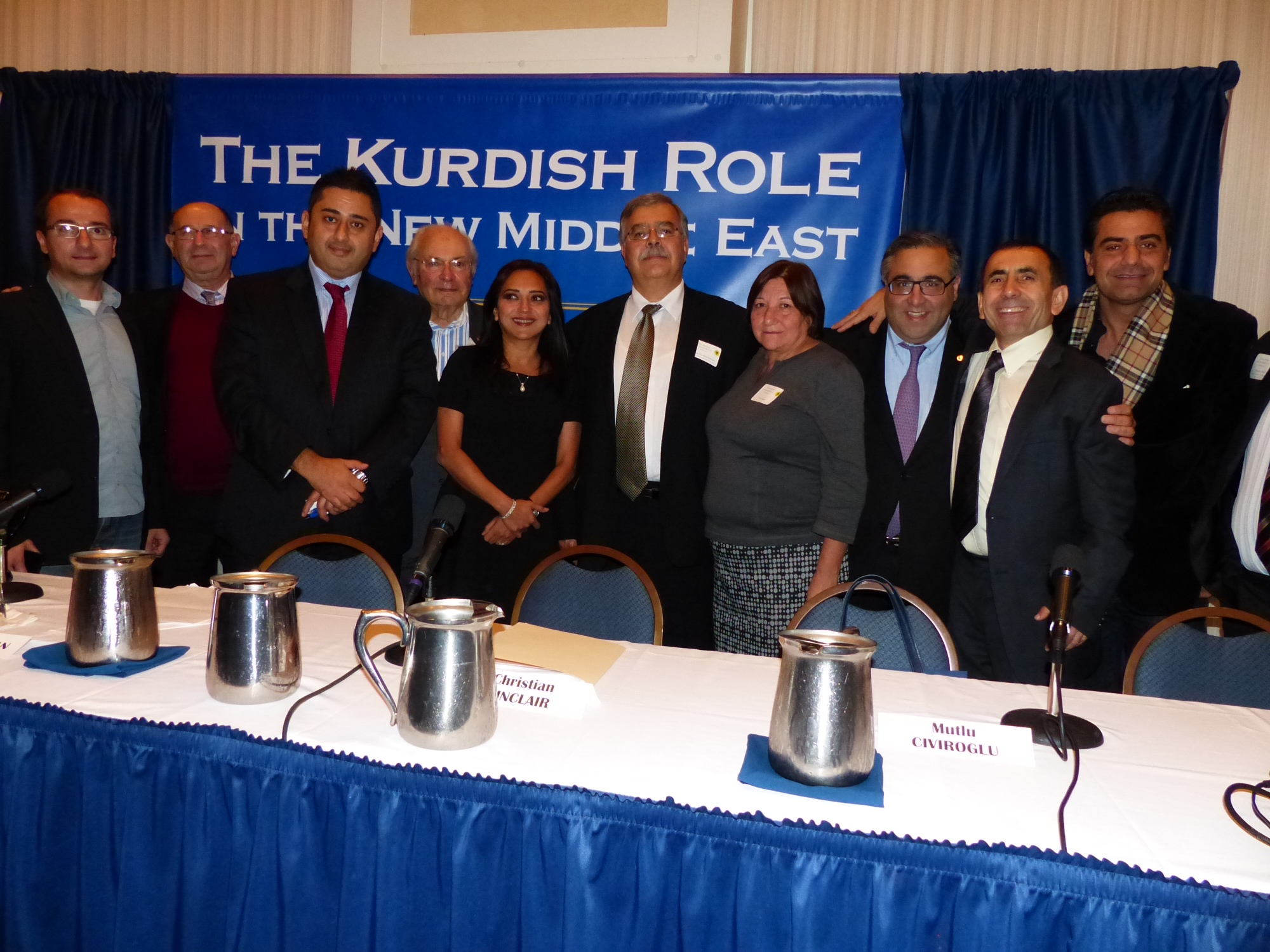 The Armenian delegation with some of the organizers and panelists at the BDP conference in Washington.