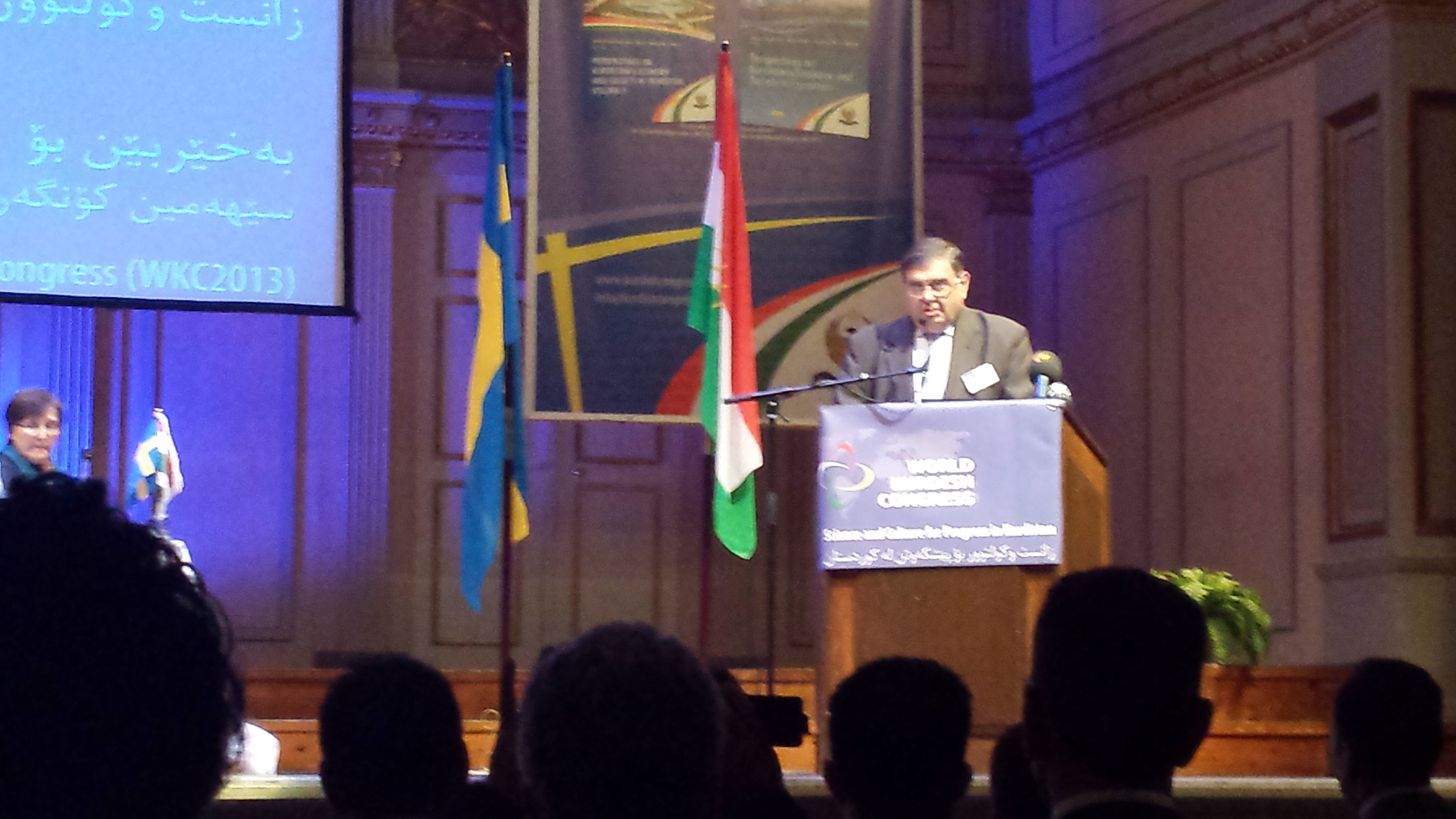 EAFJD President, Kaspar Karampetian addresses the 3rd World Kurdish Scientific Congress.