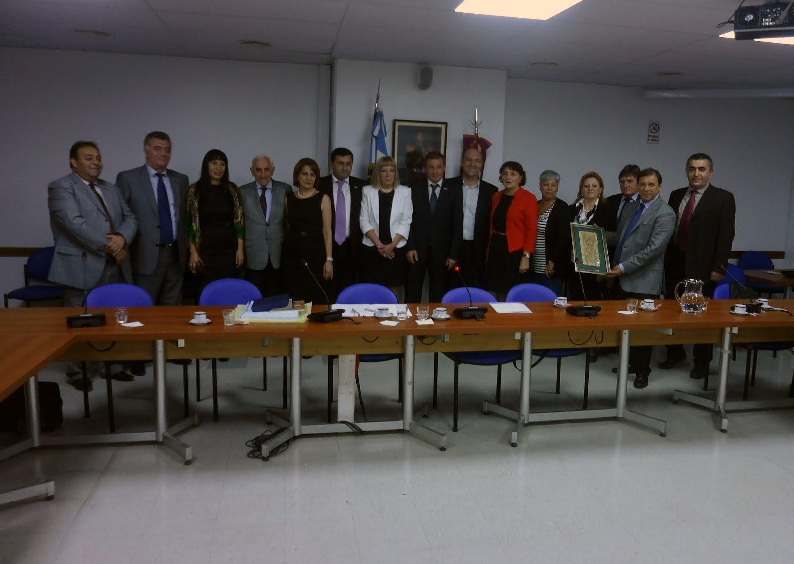 The Armenian delegation with members of the Argentina Armenia Parliamentary Friendship Group