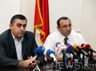 (L-R) Armen Rustamyan, Artsvik Minasyan