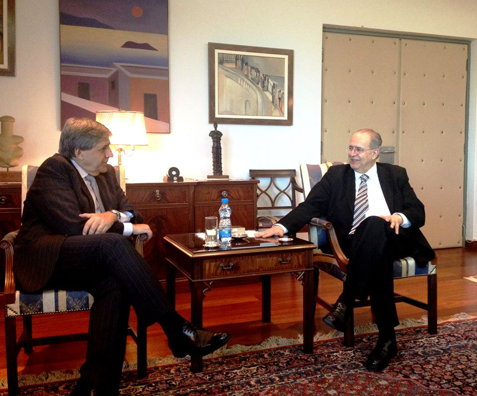 SI VP Mario Nalbandian and Cyprus Foreign Minister Ioannis Kassoulides
