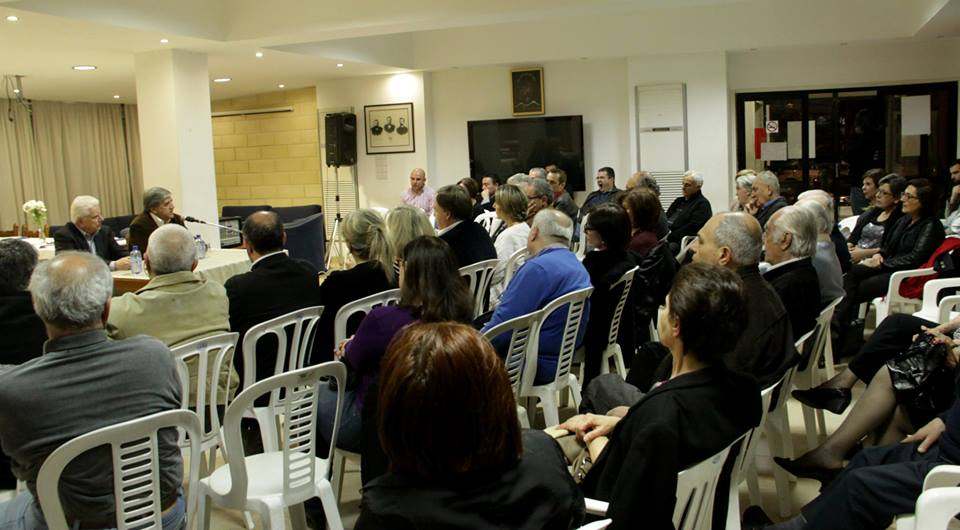 On the panel Mario Nalbandian and Arto Tavitian (ARF-D Cyprus)