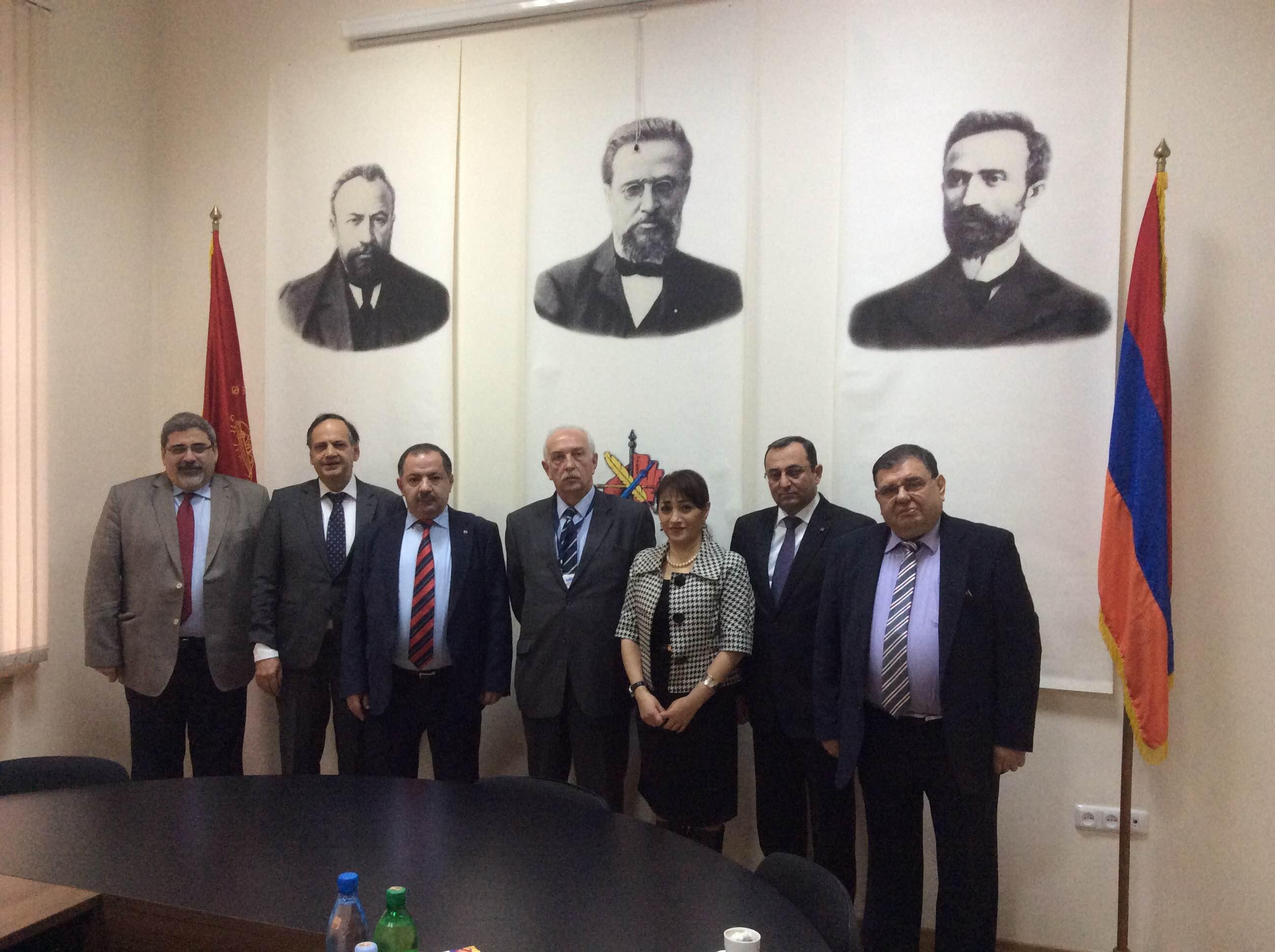 (L-R) Giro Manoyan, Knut Fleckenstein, Aghvan Vardanyan, Gia Jorjoliani, Lilit Galstyan, Artsvik Minasyan, Kaspar Karampetian
