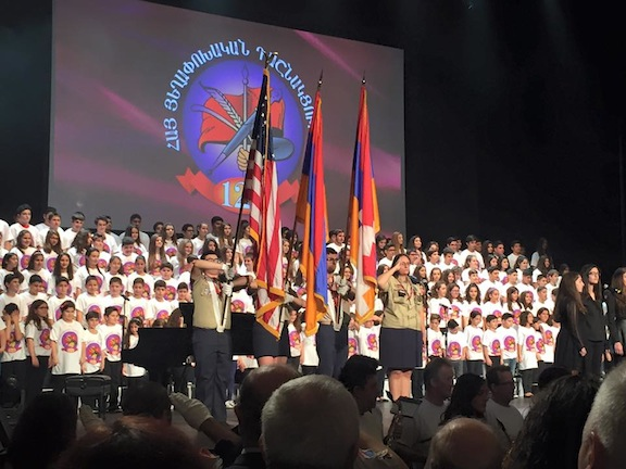 The AYF Junior Choir performed revolutionary songs at the beginning of the ARF-D 125th Anniversary Celebration Sunda