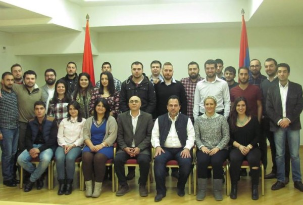 """Delegates representing the ARF-D's student and youth organizations from around the world met for a three-day conference in Yerevan at the ARF-D """"Aram Manougian"""" Center."""