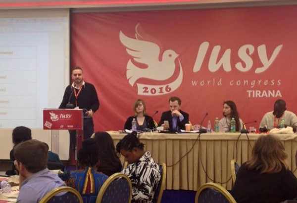 Garabed Chadoian at the podium of IUSY World Congress 2016