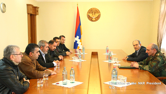 ARF-D delegation, headed by Bureau chairman Hrant Markarian with President Bako Sahakyan