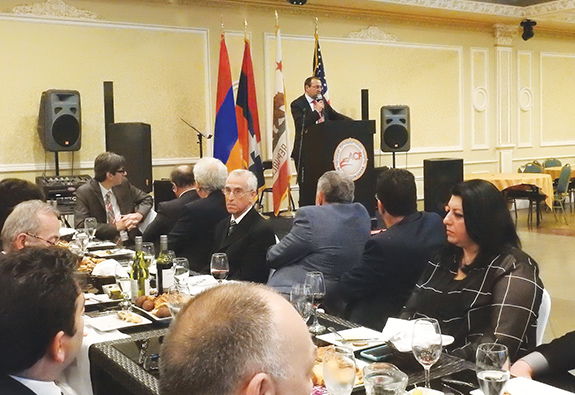 Minasyan discusses Armenia's economic development during ARF-D reception